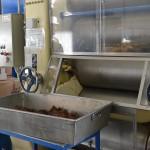 Sortie de broyeuse à cacao